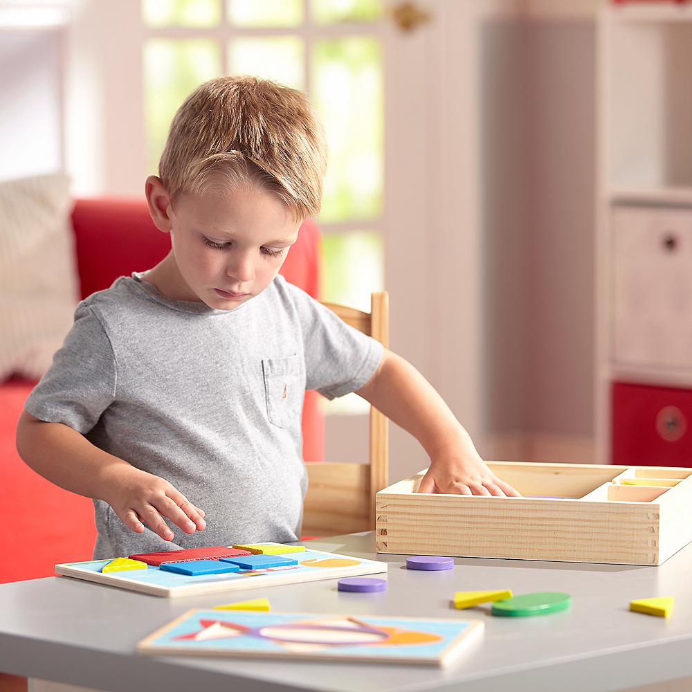 Melissa & Doug Beginner Pattern Blocks Educational Toy Image #4
