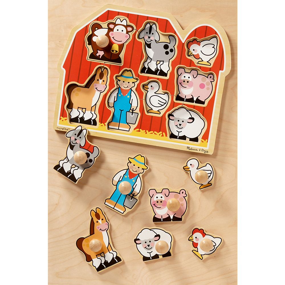 Melissa Doug Farm Animals Jumbo Knob Puzzle