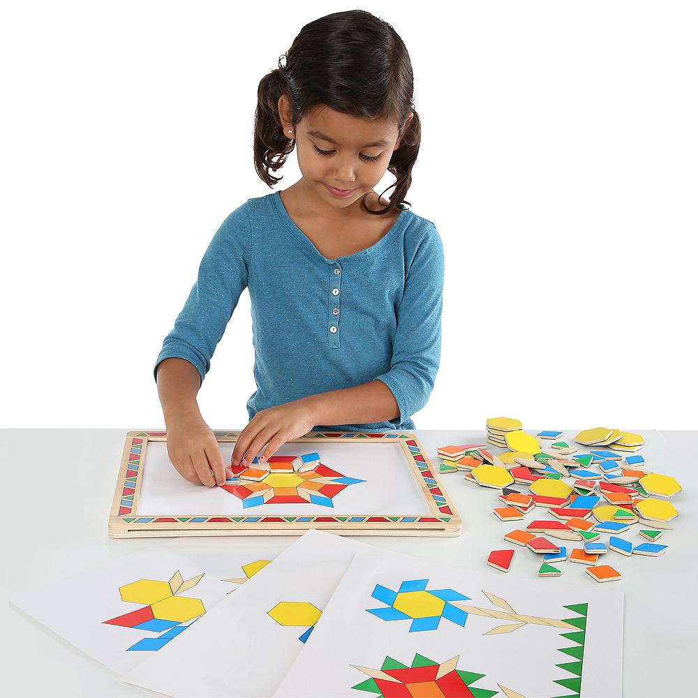 Melissa & Doug Deluxe Magnetic Pattern Blocks Set Image #2