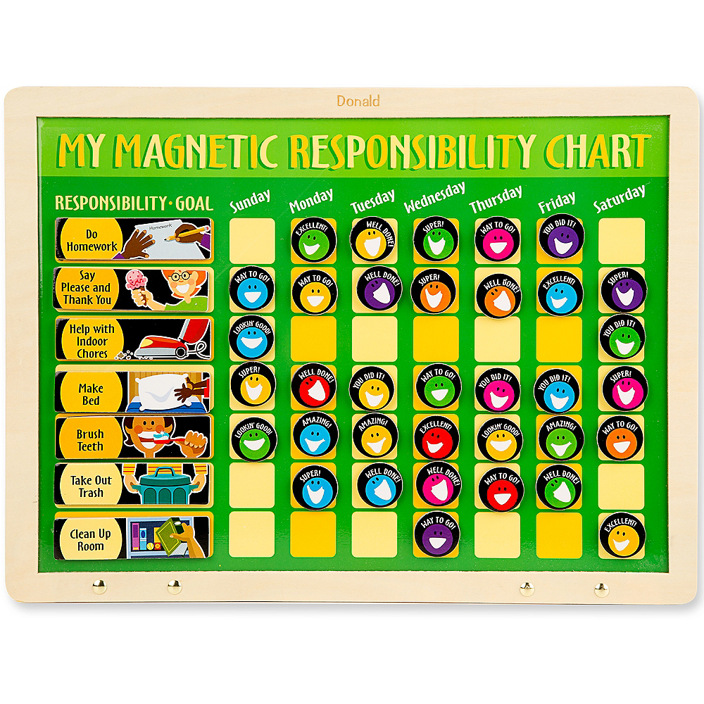 Melissa & Doug Deluxe Magnetic Responsibility Chart with Magnets Image #1