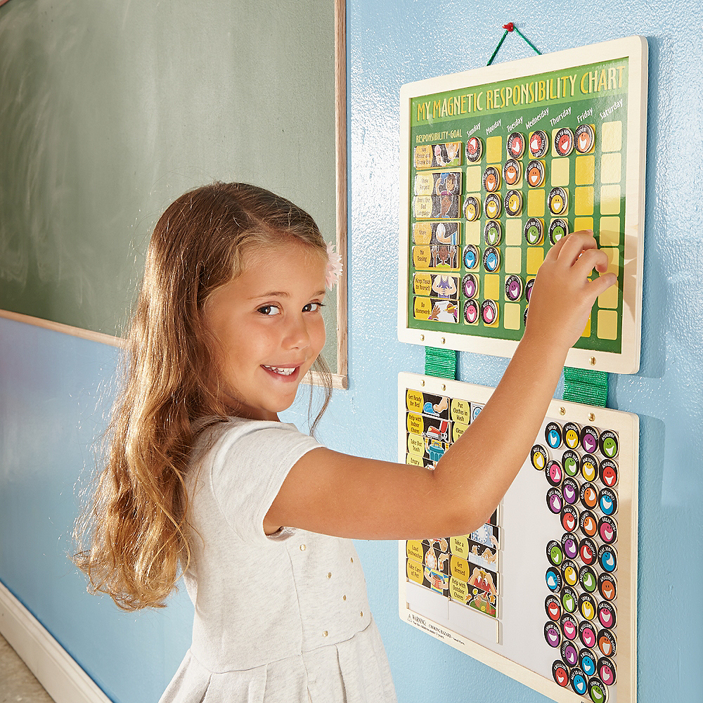Melissa & Doug Deluxe Magnetic Responsibility Chart with Magnets Image #2
