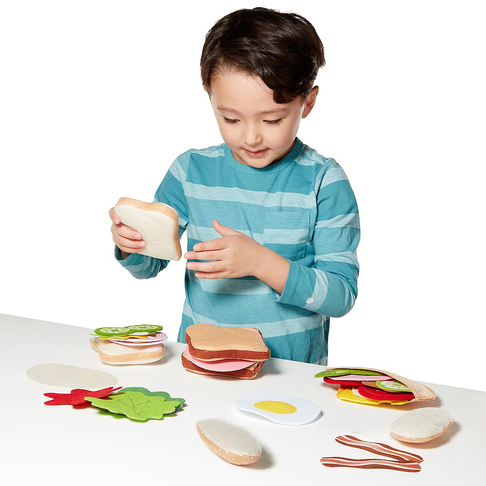 Melissa & Doug Felt Food Sandwich Play Food Set 33pc Image #3