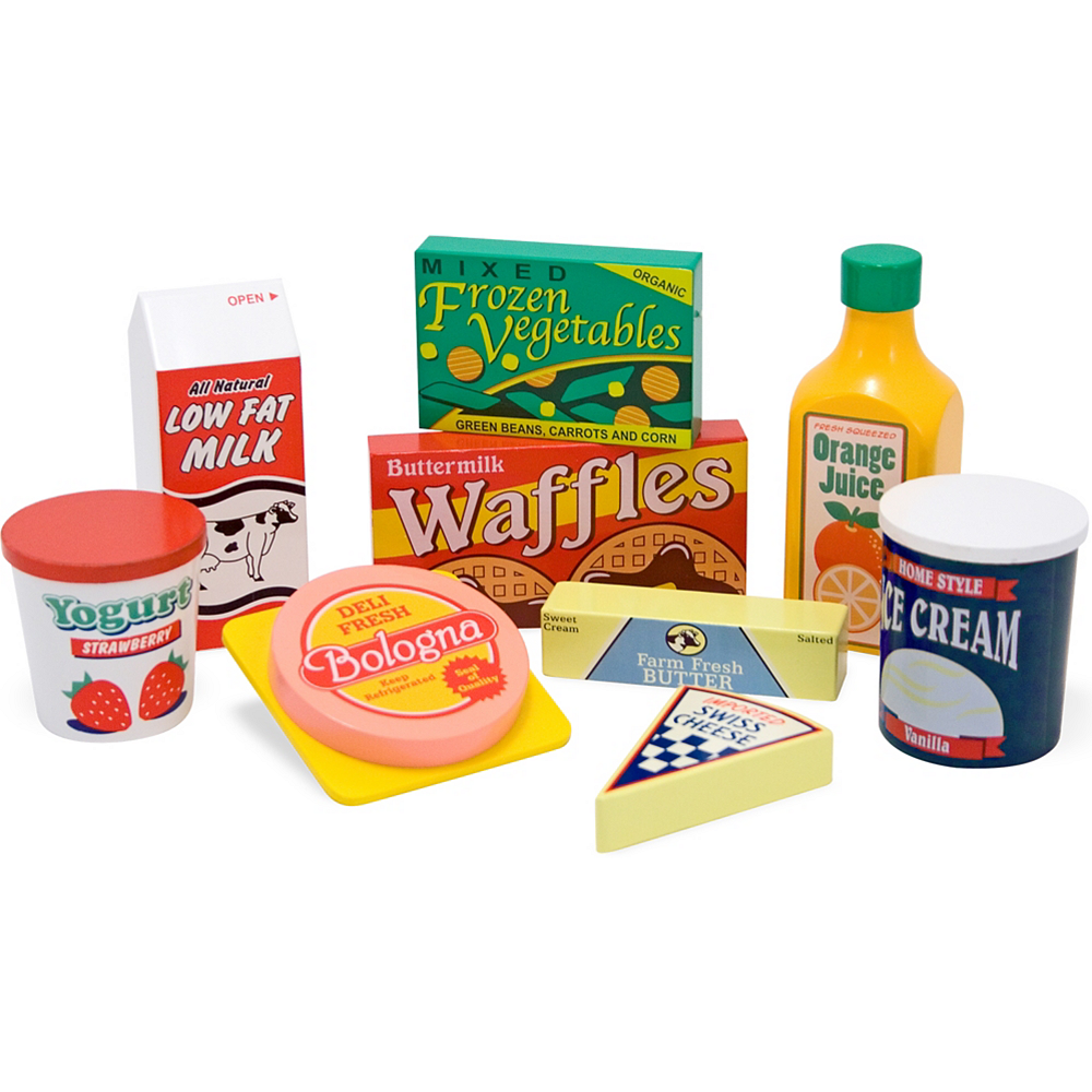 Nav Item for Melissa & Doug Fridge Food Play Food Set 9pc Image #2