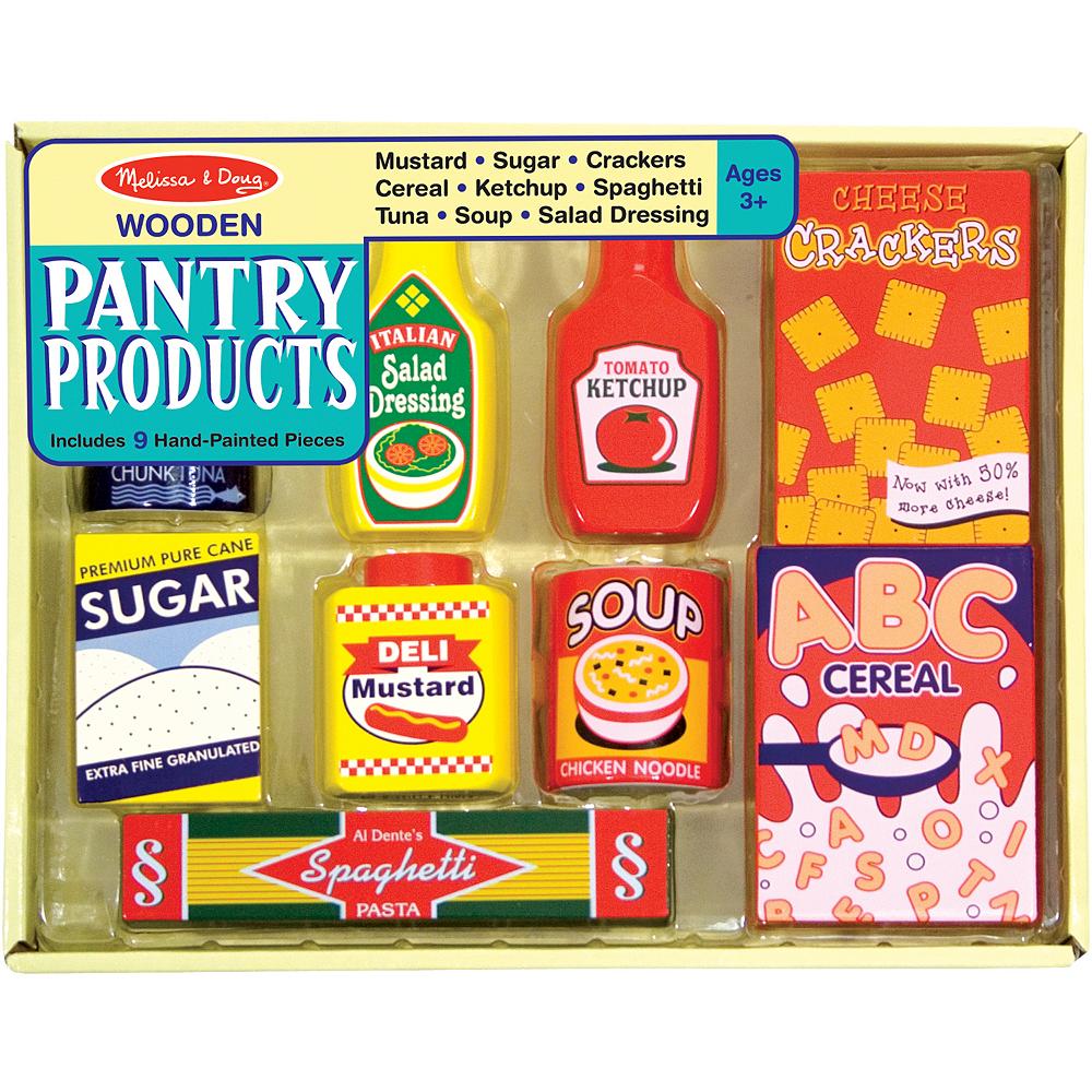 Melissa Doug Pantry Products Play Food Set 9pc