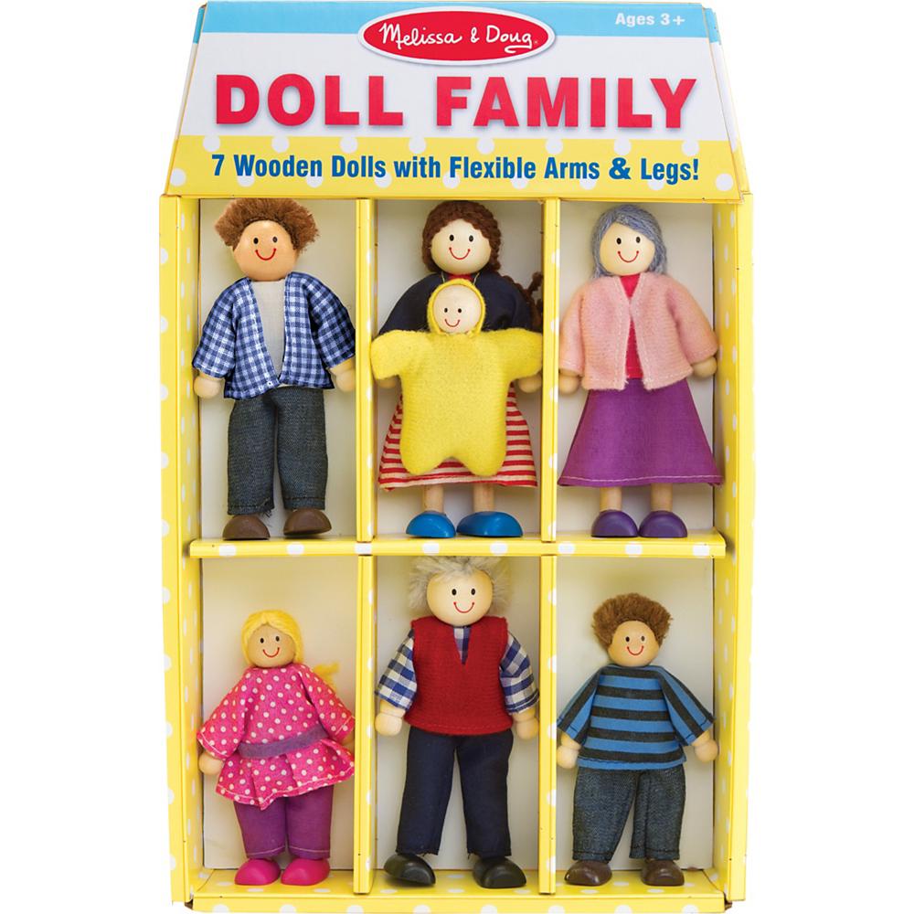 Melissa Doug Poseable Doll Family 7pc
