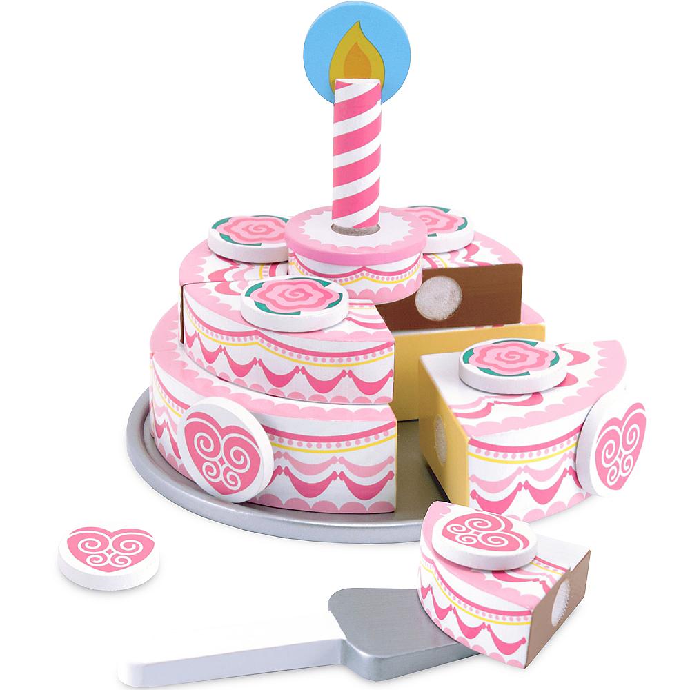 Melissa & Doug Triple-Layer Party Cake Play Food Set Image #1
