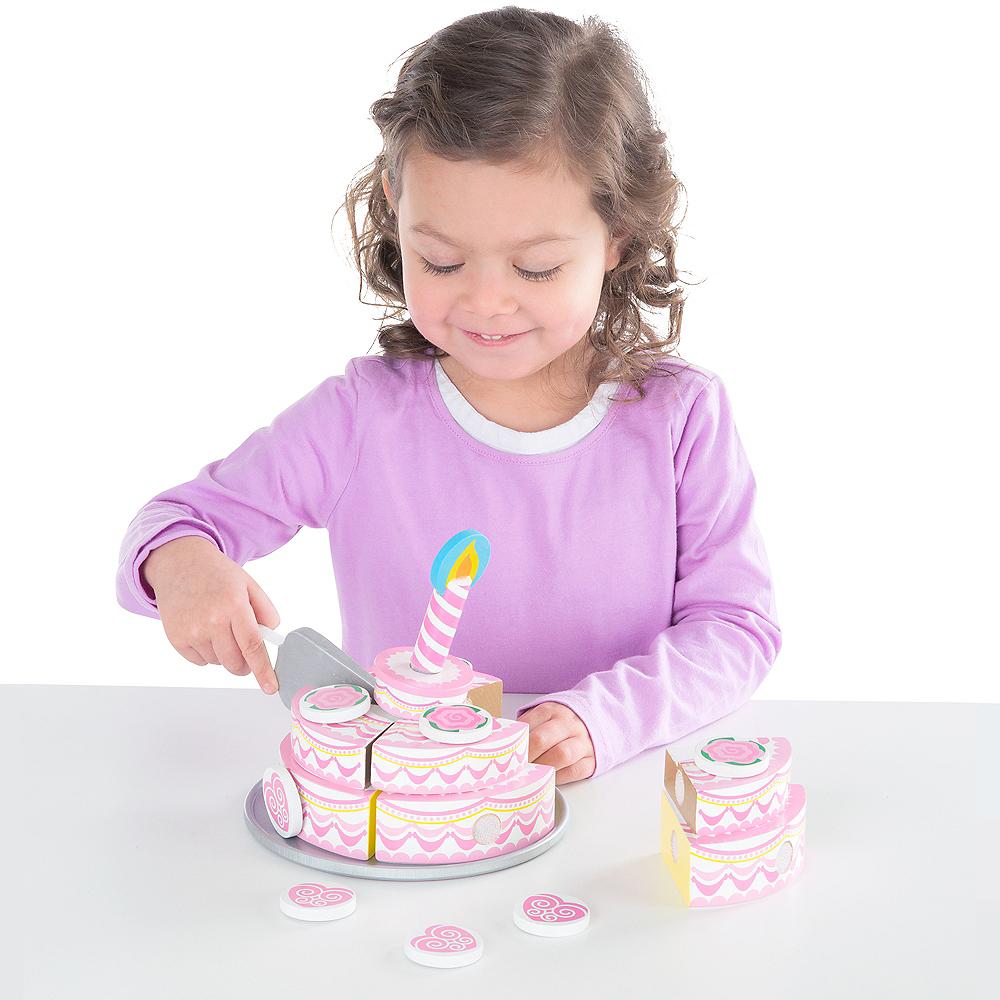 Melissa & Doug Triple-Layer Party Cake Play Food Set Image #2