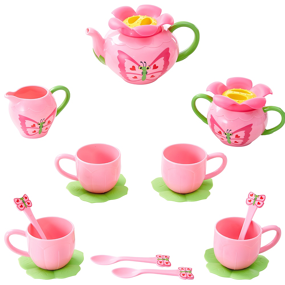 Melissa & Doug Sunny Patch Bella Butterfly Tea Set 15pc Image #1