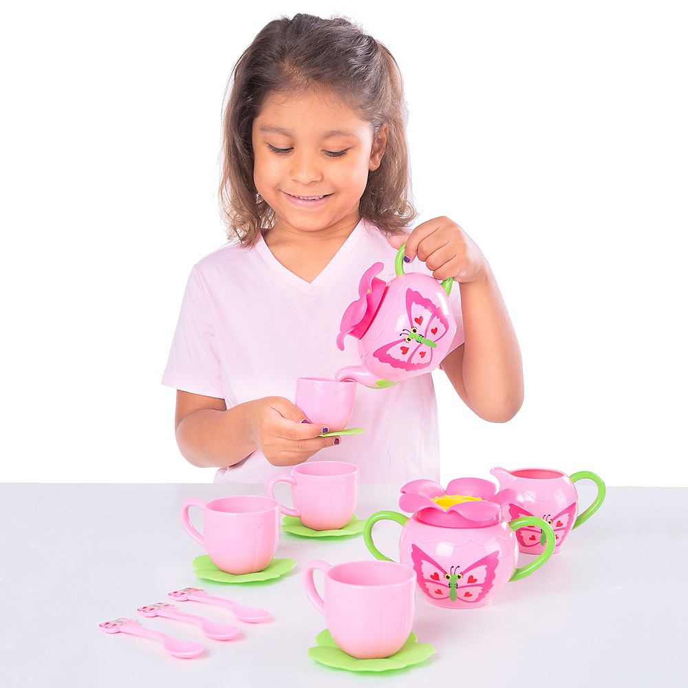 Melissa & Doug Sunny Patch Bella Butterfly Tea Set 15pc Image #2