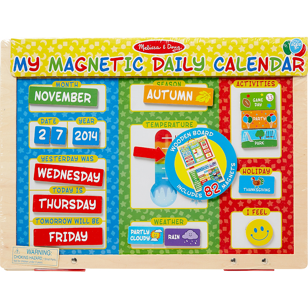 Melissa & Doug My First Daily Magnetic Calendar Image #1