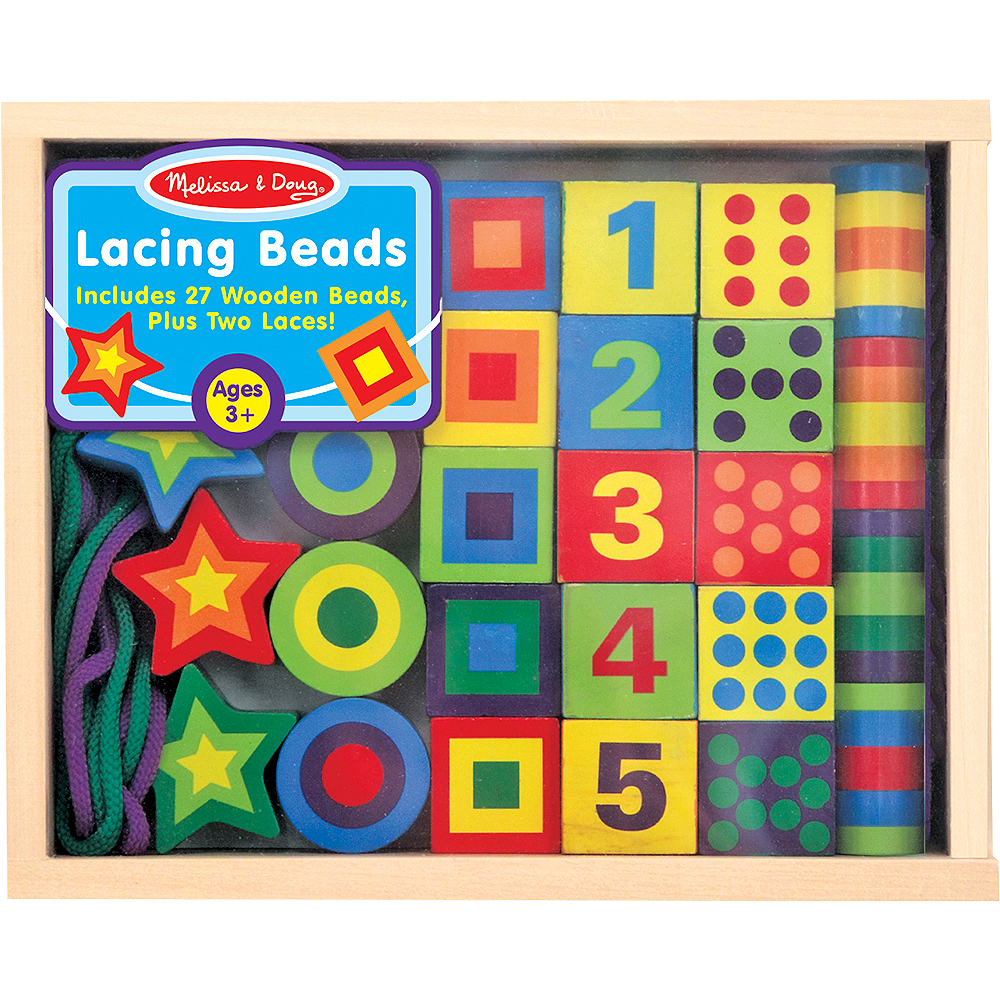 Nav Item for Melissa & Doug Deluxe Lacing Beads Set Image #1