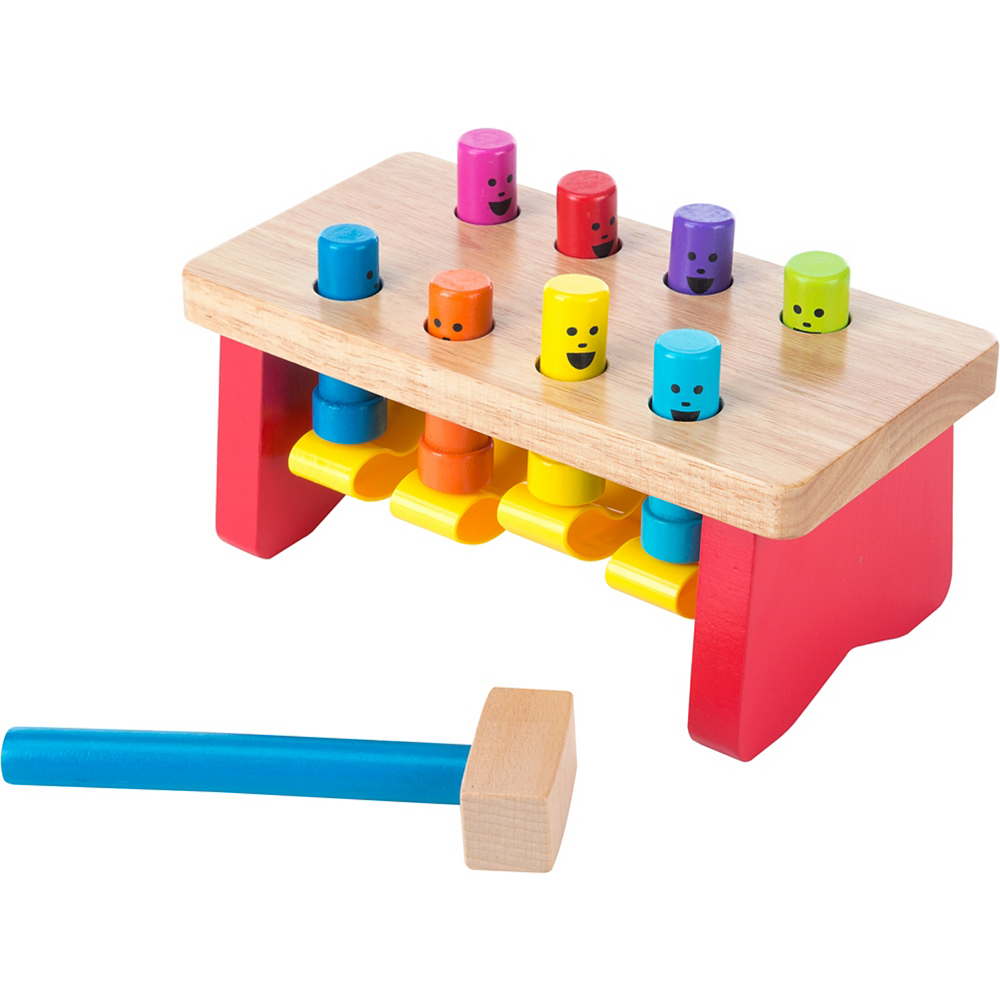 Melissa & Doug Deluxe Pounding Bench with Mallet Image #1
