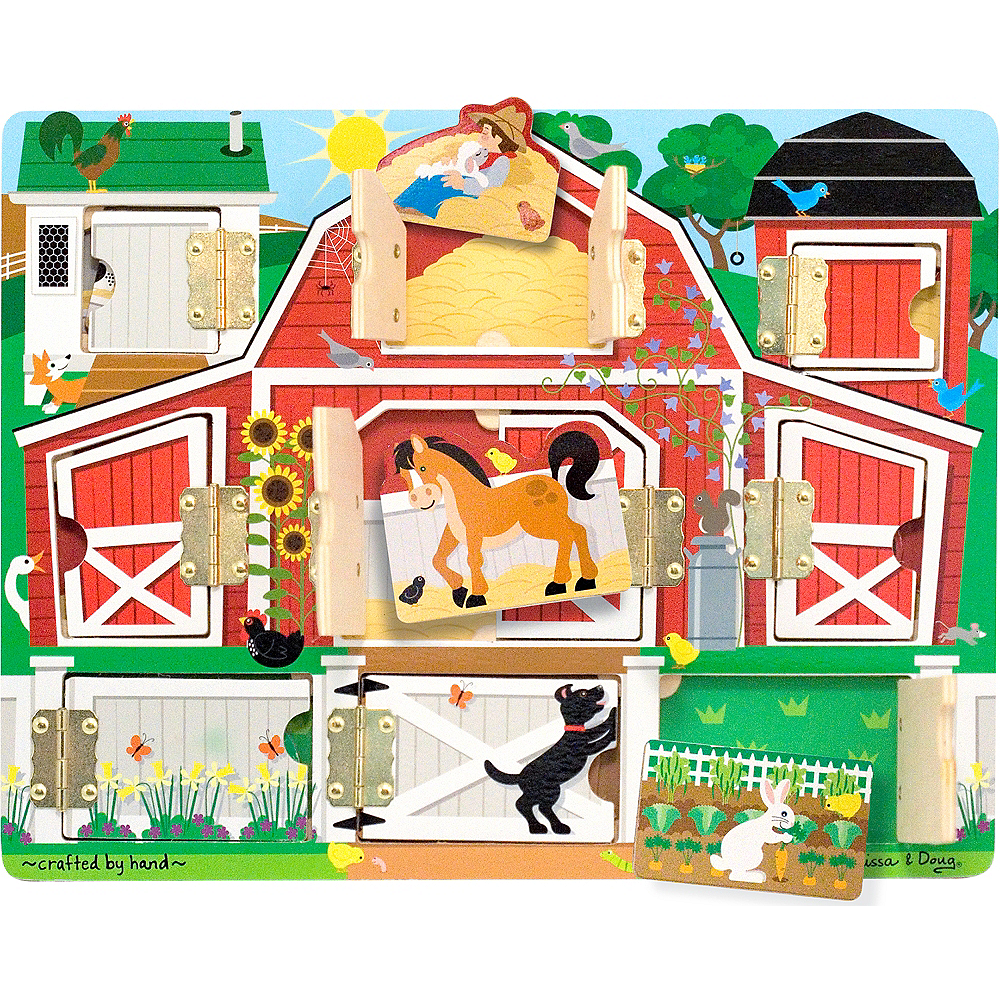 Melissa & Doug Hide and Seek Farm Activity Board With Magnets Image #2