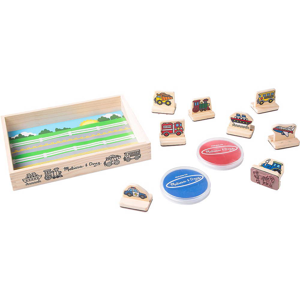 Melissa & Doug My First Wooden Stamp Set - Vehicles Image #1