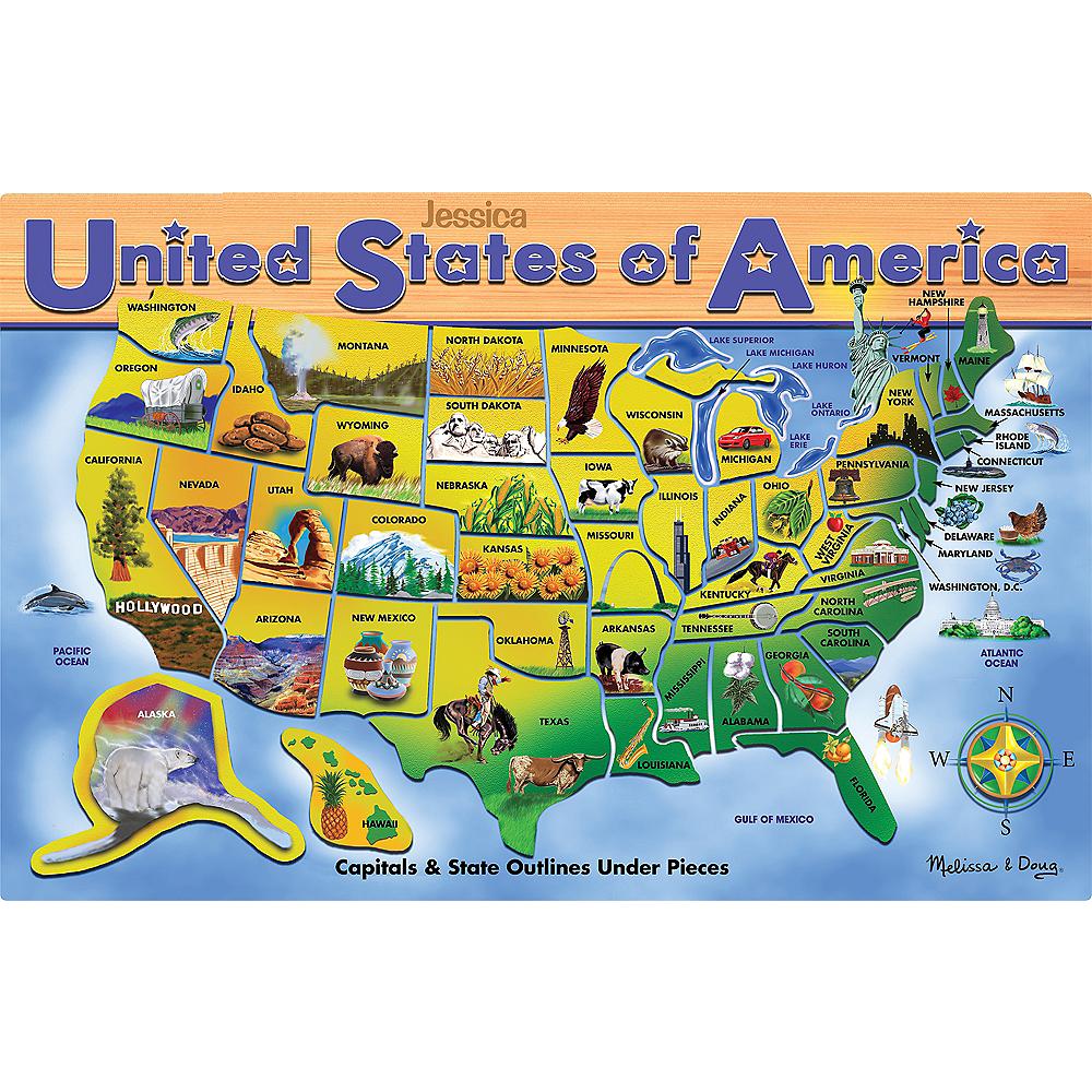 Melissa & Doug USA Map Puzzle 45pc | Party City