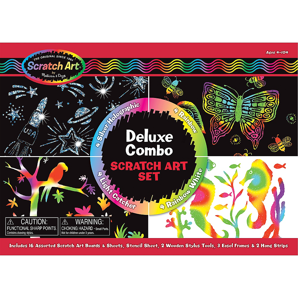 Nav Item for Melissa & Doug Deluxe Combo Scratch Art Set Image #1
