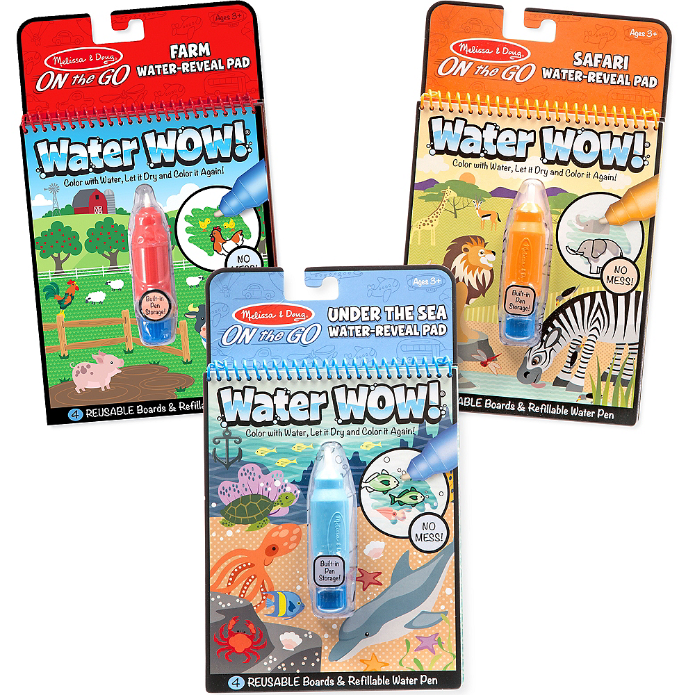 Melissa & Doug On the Go Water Wow! Animal Activity Pads 3ct Image #1