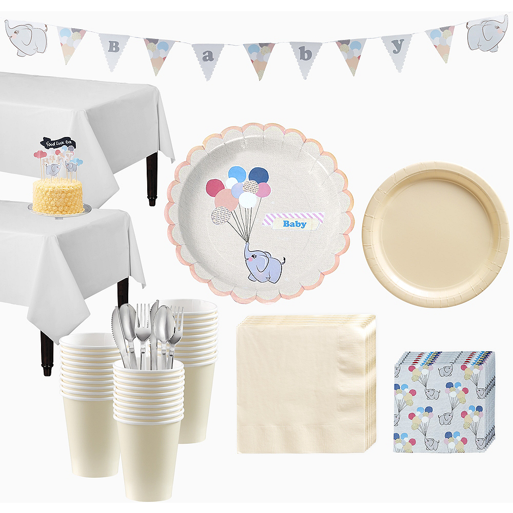 b399bf006 Ginger Ray Elephant Baby Shower Kit for 32 Guests Image  1 ...