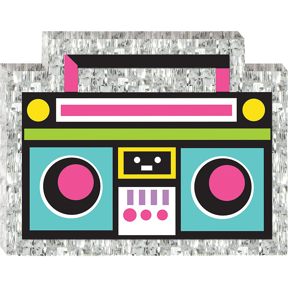 Mini Boom Box Pinata Decoration Image #1