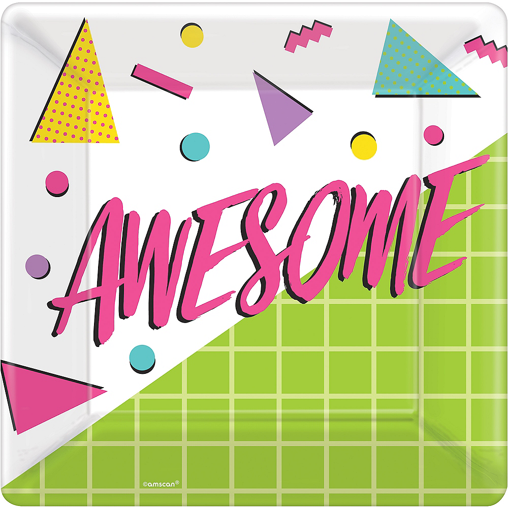 Awesome 80s Dinner Plates 8ct Image #1