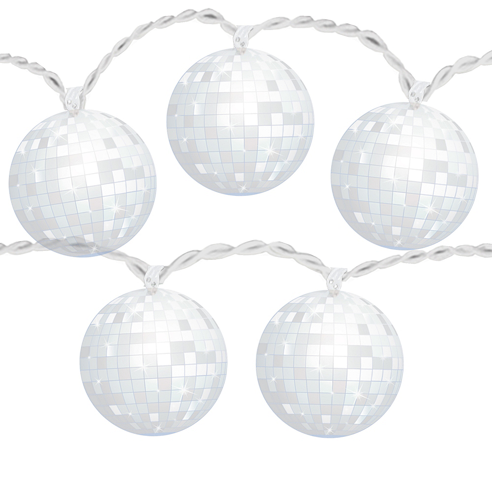 Good Vibes 70s Disco Ball LED String Lights Image #1
