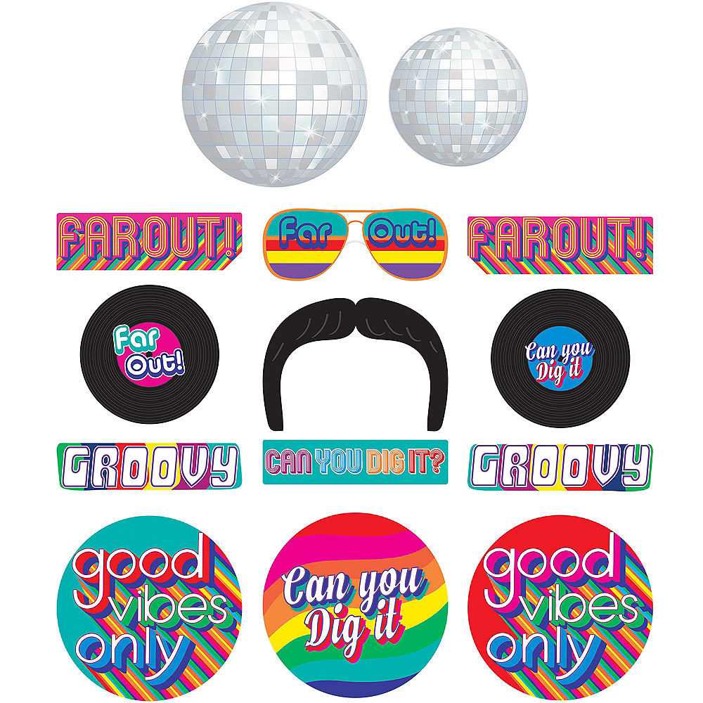 Nav Item for Good Vibes 70s Cutouts 30ct Image #1