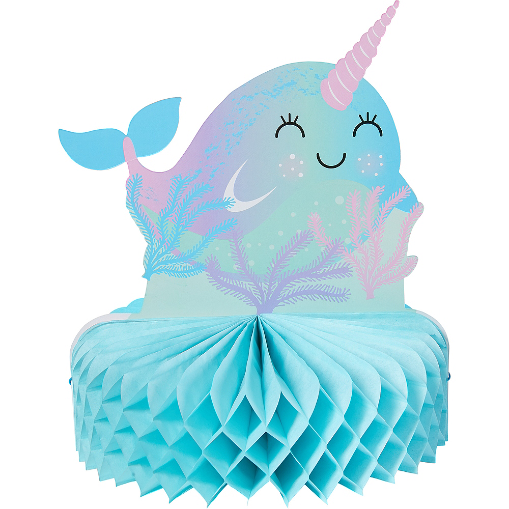Narwhal Honeycomb Centerpiece Image #1