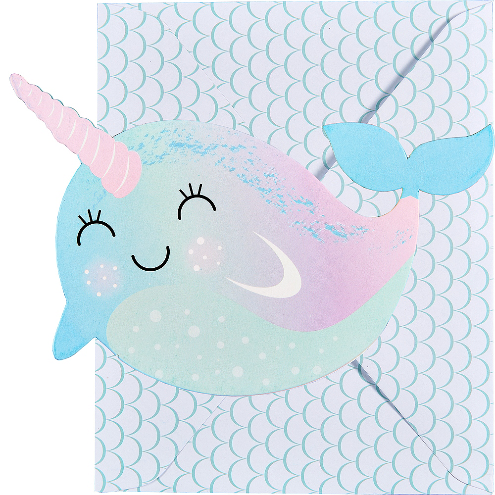 Narwhal Paper Invitations 8ct Image #1