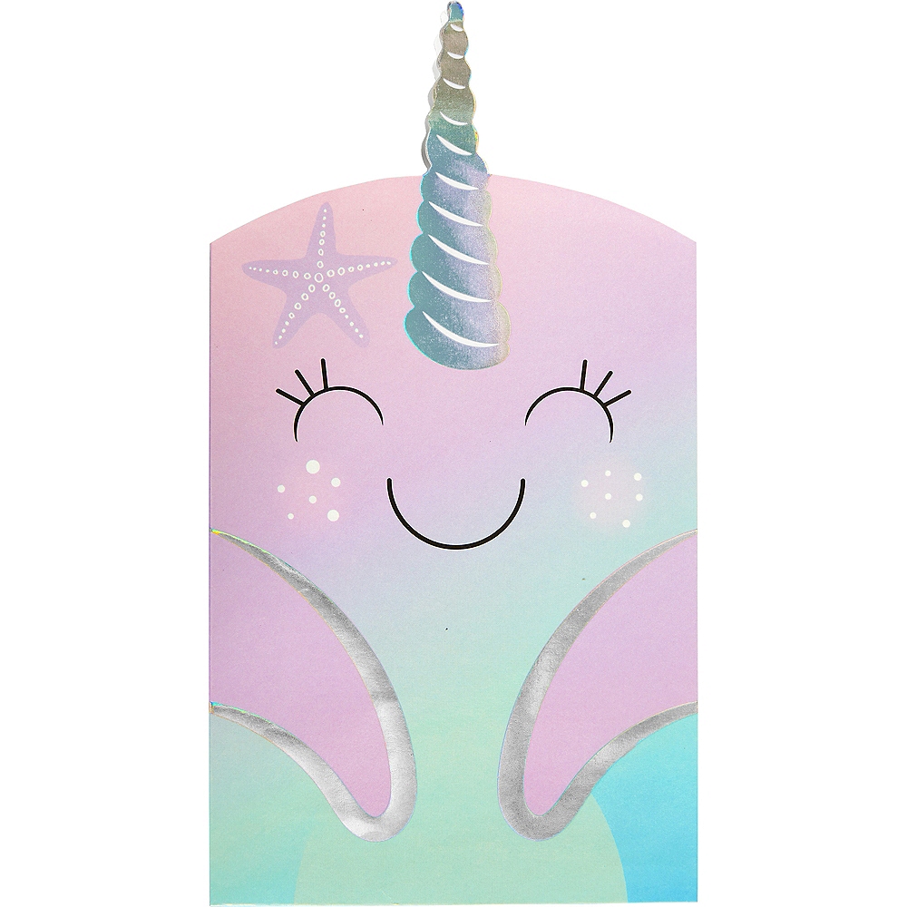 Narwhal Paper Treat Bags 8ct Image #1