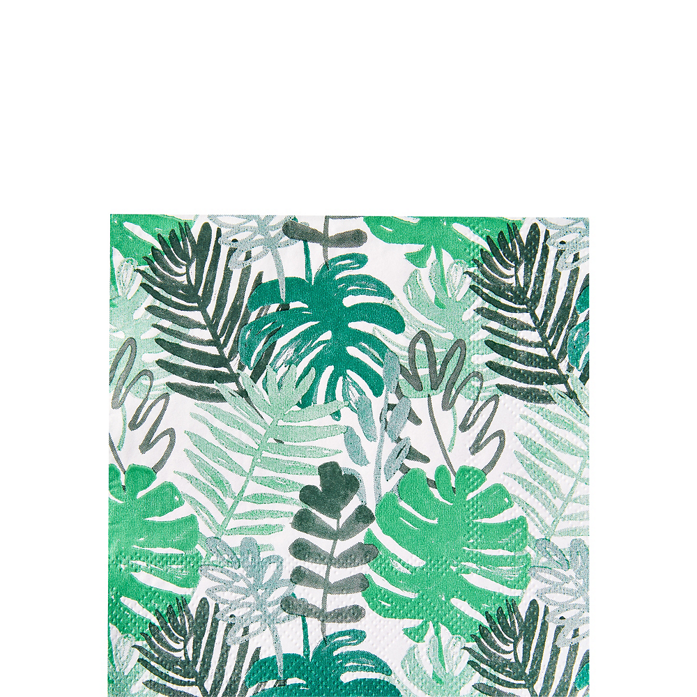 Tropical Leaves Party Beverage Napkins 20ct Image #1