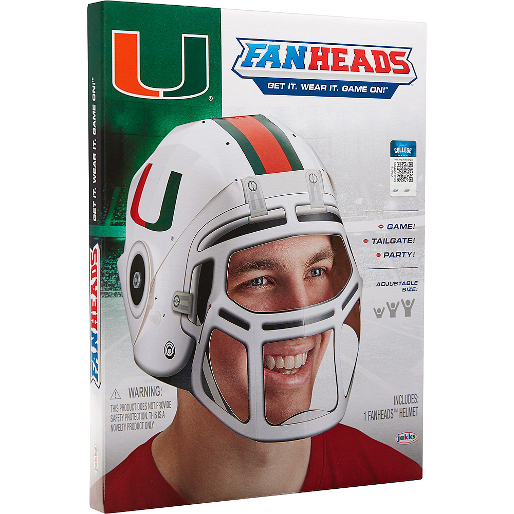 FanHeads Miami Hurricanes Helmet Image #3