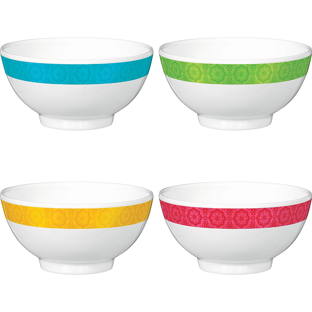 Fiesta Time Plastic Bowls 4ct Image #1