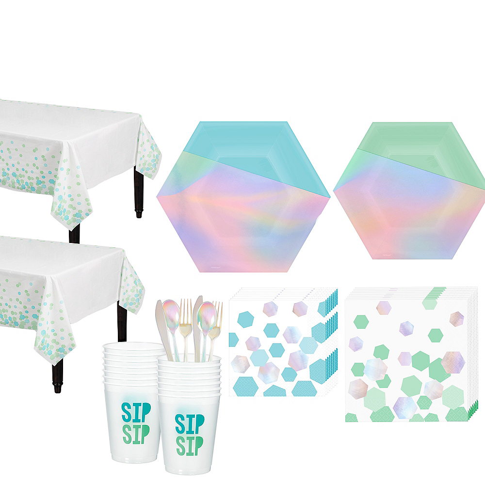 Shimmering Party Tableware Kit for 16 Guests Image #1