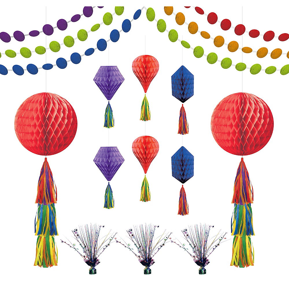 Rainbow Honeycomb Decorating Kit Image #1