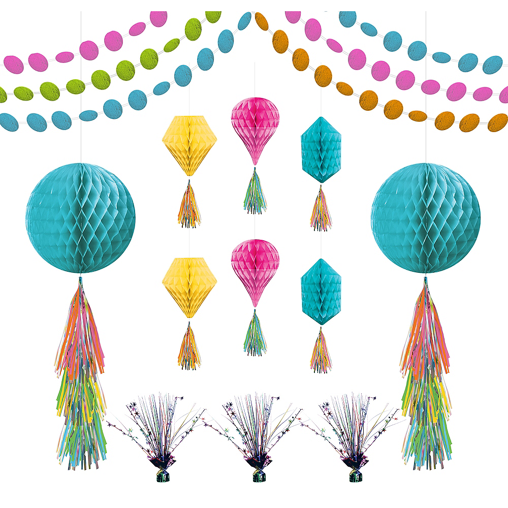 Multicolor Honeycomb Decorating Kit Image #1