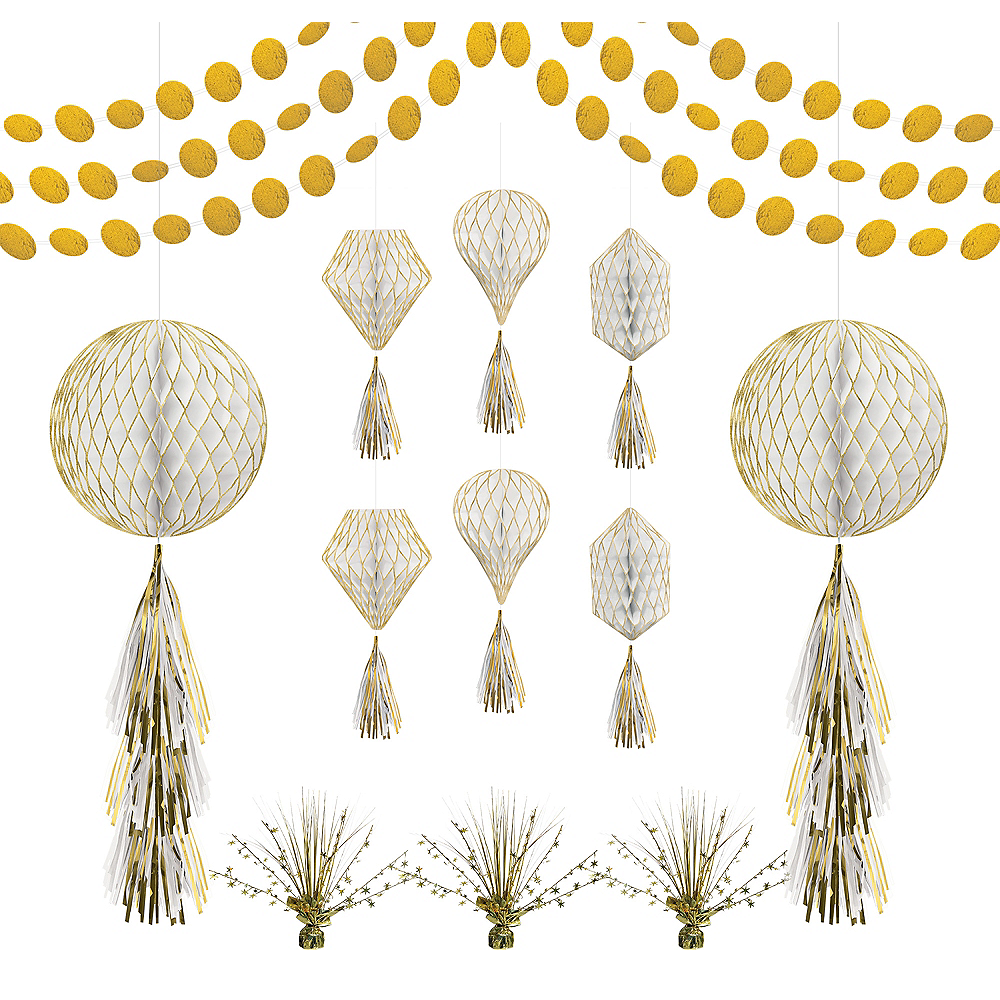 Gold Honeycomb Decorating Kit Image #1