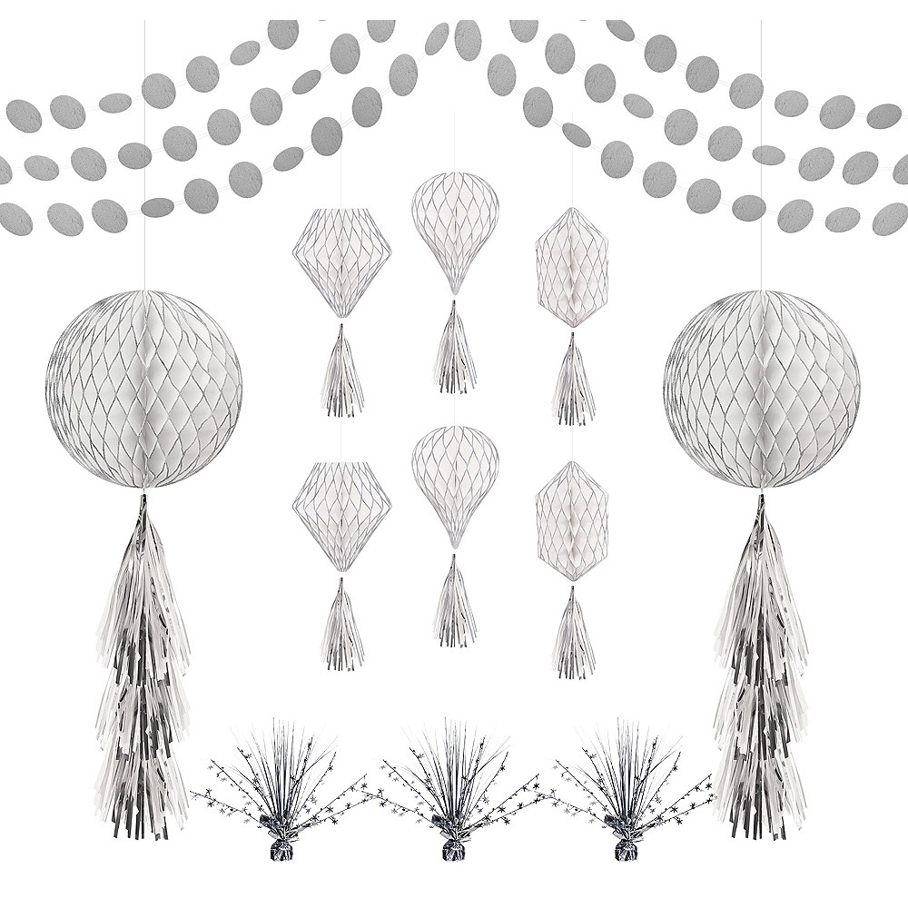 Silver Honeycomb Decorating Kit Image #1