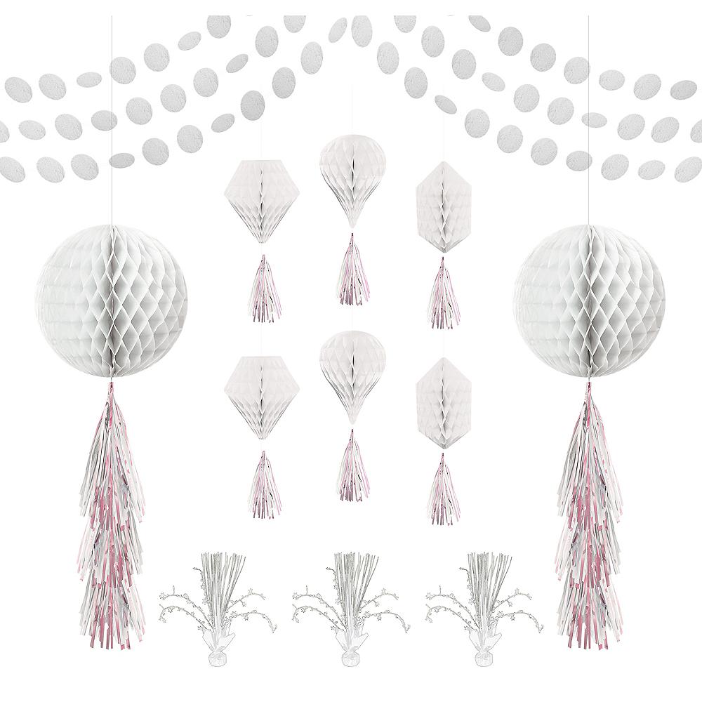 White Honeycomb Decorating Kit Image #1