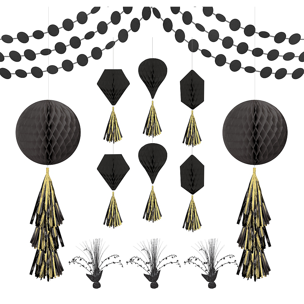 Black Honeycomb Decorating Kit Image #1