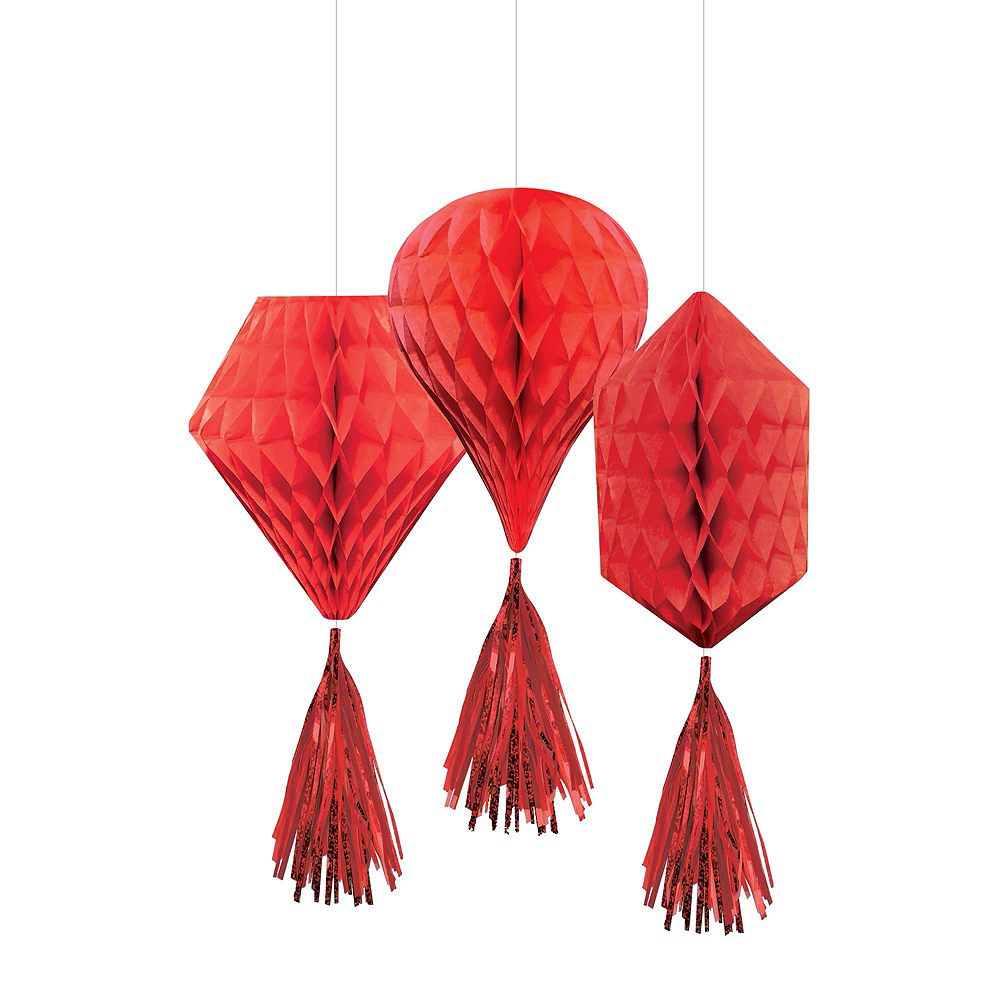 Red Honeycomb Decorating Kit Image #3