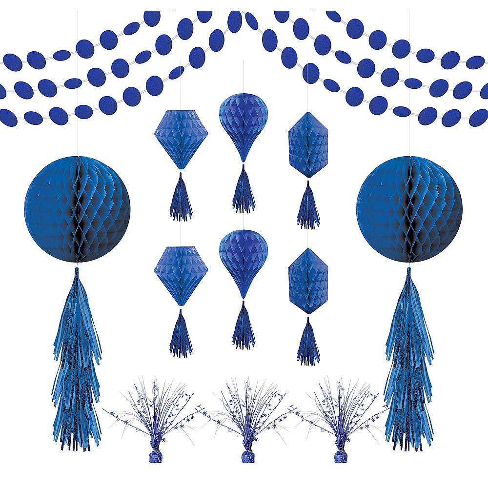 Royal Blue Honeycomb Decorating Kit Image #1