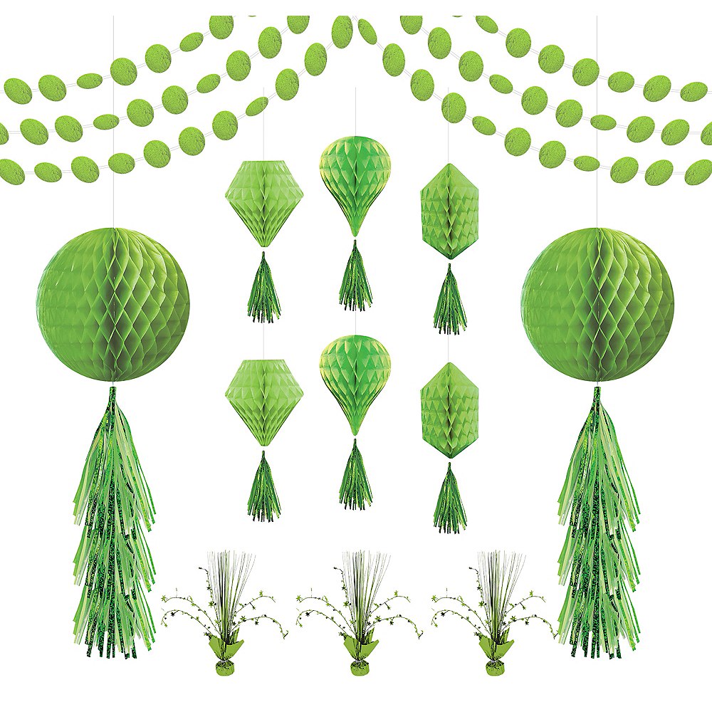 Kiwi Green Honeycomb Decorating Kit Image #1