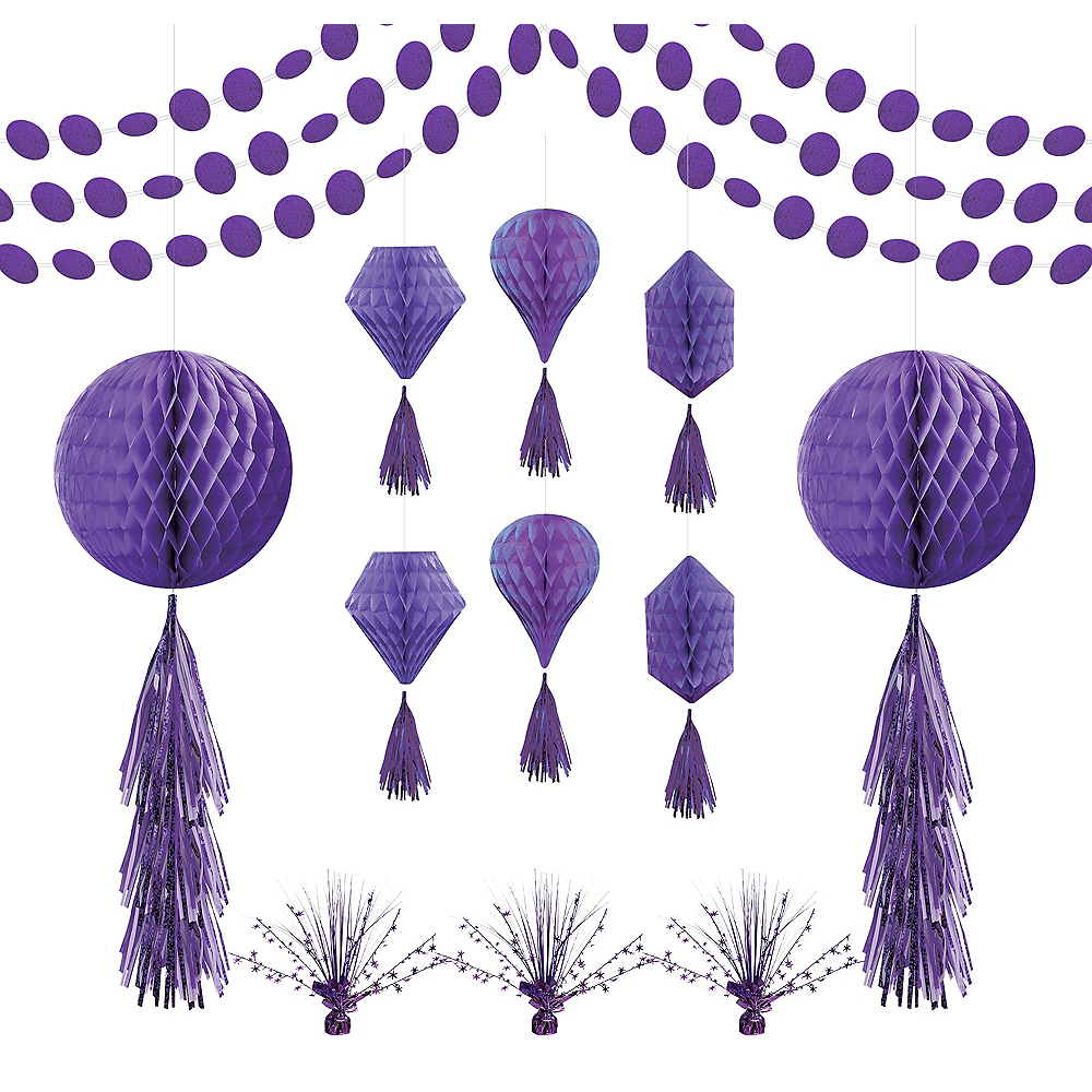 Purple Honeycomb Decorating Kit Image #1