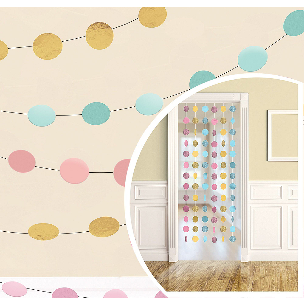 Pastel & Gold Decorating Kit with Balloons Image #2