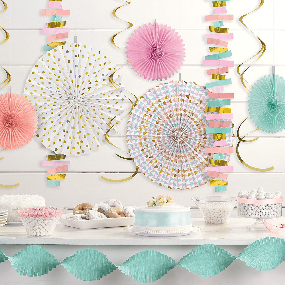 Pastel & Gold Decorating Kit with Balloons Image #5