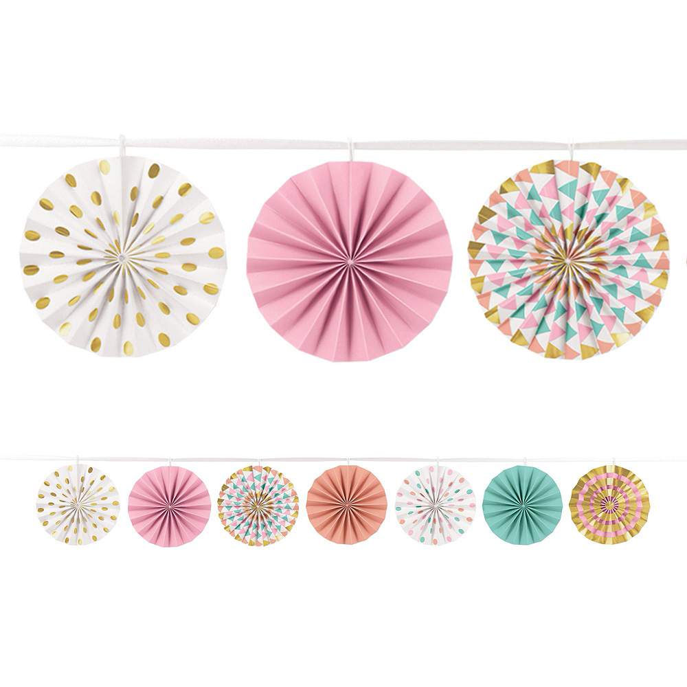 Pastel & Gold Decorating Kit with Balloons Image #6