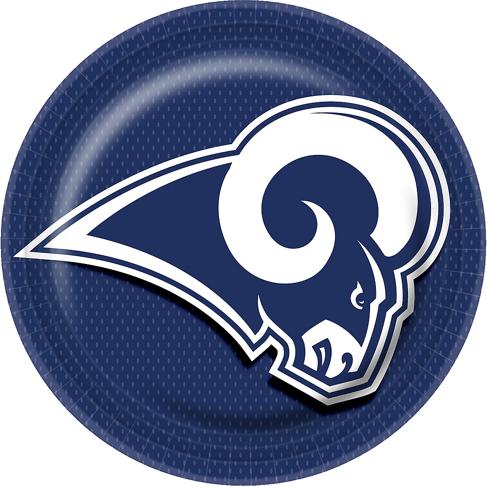 Los Angeles Rams Lunch Plates 18ct Image #1