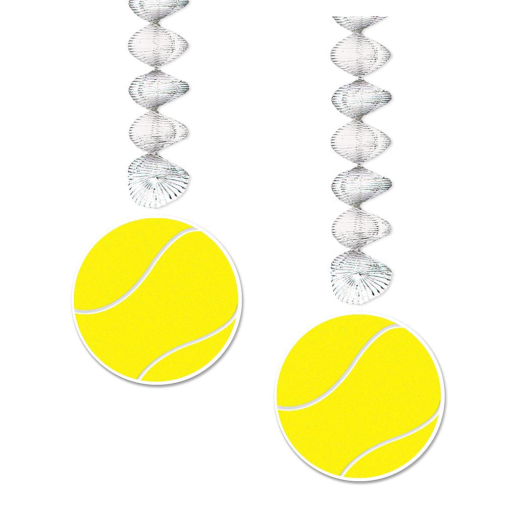 Tennis Ball Swirl Decorations 2ct Image #1