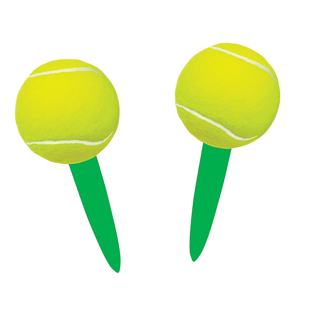 Tennis Ball Party Picks 24ct Image #1