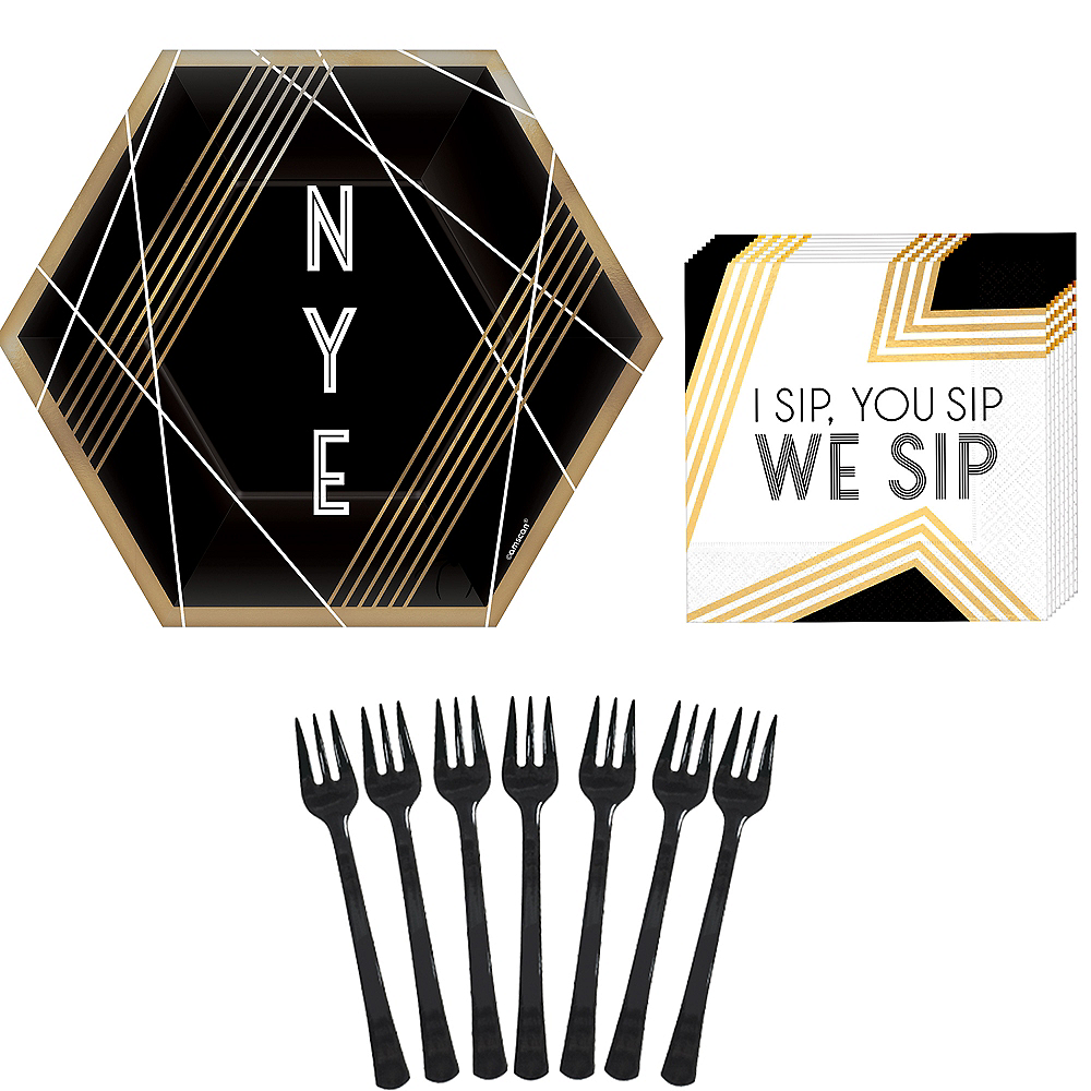 Black New Year's Eve Appetizer Kit for 16 Guests Image #1